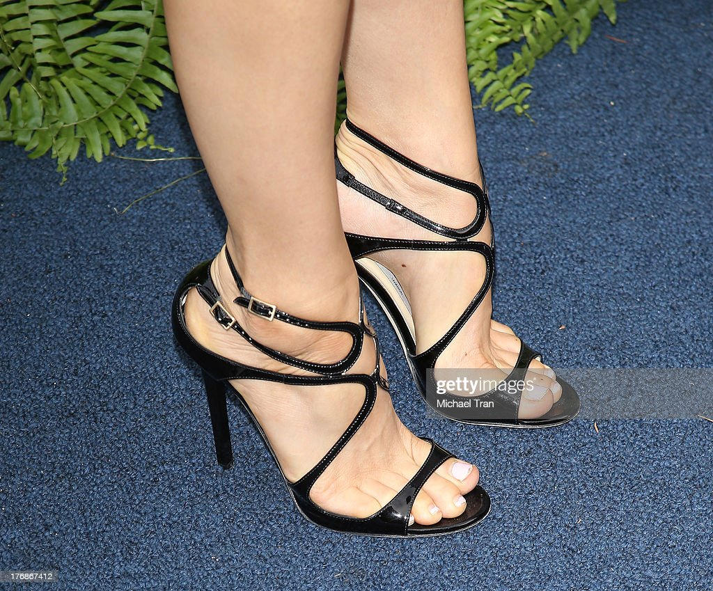 Mary Lynn Rajskub (shoe detail) arrives at the 6th Annual Oceana's Annual SeaChange Summer Party held at a private residence on August 18, 2013 in Laguna Beach, California.