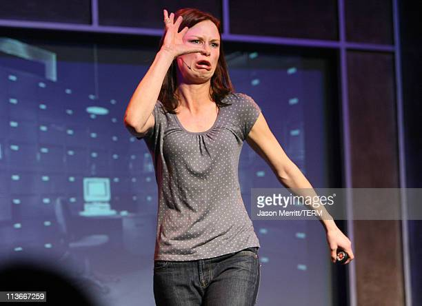 Mary Lynn Rajskub during HBO's 13th Annual US Comedy Arts Festival John Oliver Mary Lynn Rajskub and Michael Showalter at The Tent in Aspen Colorado...