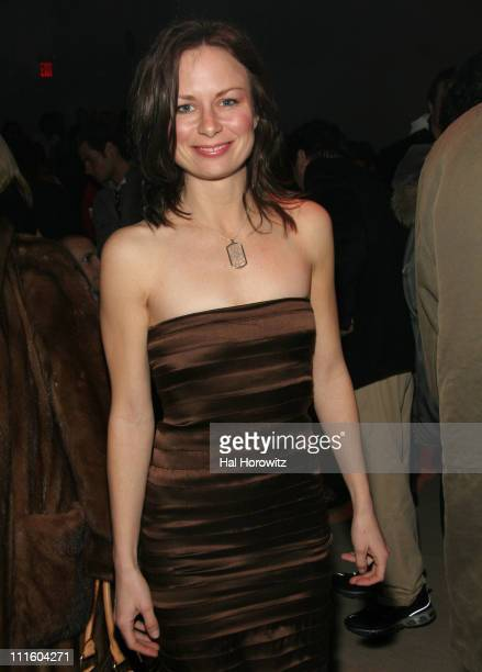 Mary Lynn Rajskub during MercedesBens Fashion Week Fall 2007 Nicole Miller Front Row and Backstage at The Promanade Bryant Park in New York City New...