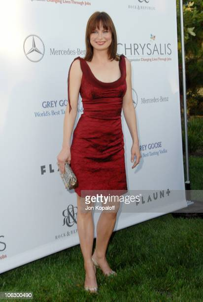 Mary Lynn Rajskub during Sixth Annual Chrysalis Butterfly Ball Arrivals at Home of Susan Harris Hayward Kaiser in Mandeville Canyon California United...