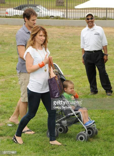 Mary Lynn Rajskub Matthew Rolph and son Valentine Anthony Rolph arrive at the 21st Annual A Time For Heroes Celebrity Picnic sponsored by Disney to...