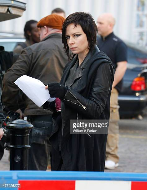 Mary Lynn Rajskub sighting on the set of '24' on March 9 2014 in London England