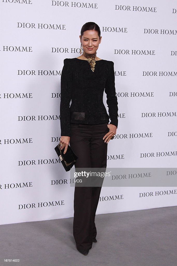 Mary Ma attends the Dior Homme F/W 2013 Menswear Collection Show on April 25, 2013 in Beijing, China.
