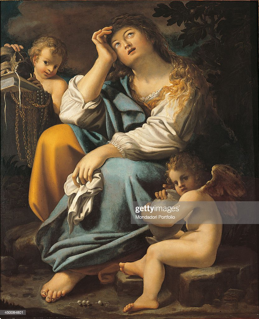 <a gi-track='captionPersonalityLinkClicked' href=/galleries/search?phrase=Mary+Magdalene&family=editorial&specificpeople=230525 ng-click='$event.stopPropagation()'>Mary Magdalene</a> (La Maddalena), by Bartolomeo Schedoni, 1587 - 1615, 16th - 17th Century, oil on canvas.
