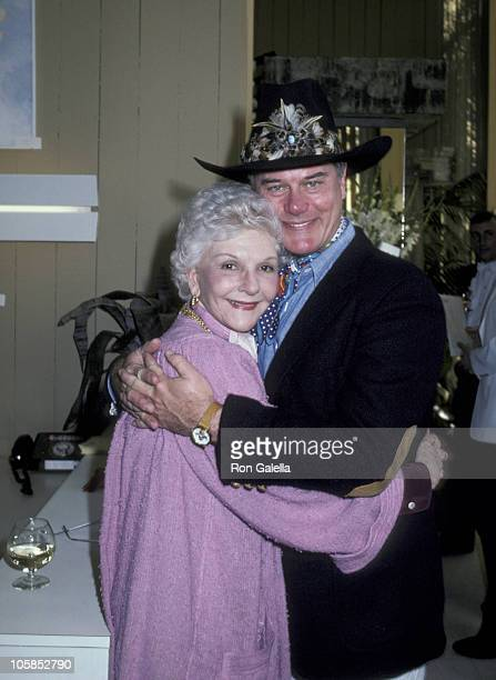 Mary Martin and Larry Hagman during Heidi Hagman's Art Exhibit at Arthur Elrod Showroom in Palm Springs California United States