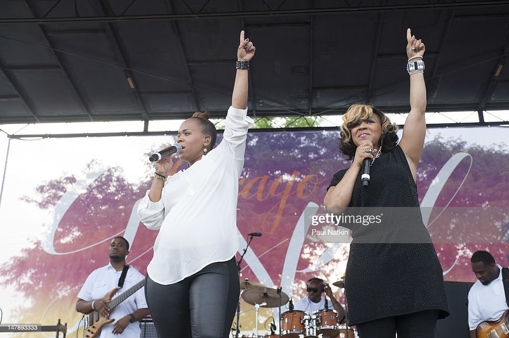 Mary Mary at the Chicago Gospel Music Festival at Ellis Park on June 24 2012 in Chicago Illinois