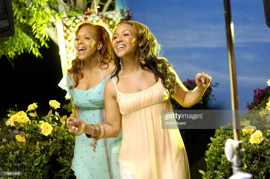 Mary Mary during Mary Mary on the set of 'Heaven' Music Video Shoot April 26 2005 at Sherman Oaks Memorial Park in Sherman Oaks California United...