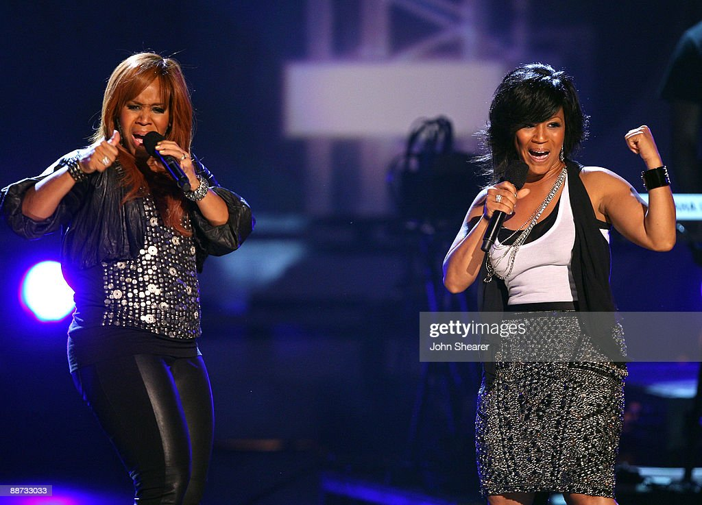 Mary Mary onstage at the 2009 BET Awards at the Shrine Auditorium on June 28 2009 in Los Angeles California