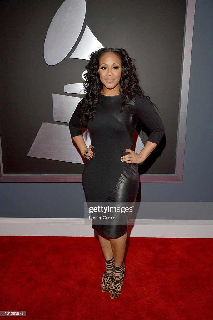 Mary Mary's Erica Campbell attends the 55th Annual GRAMMY Awards at STAPLES Center on February 10 2013 in Los Angeles California
