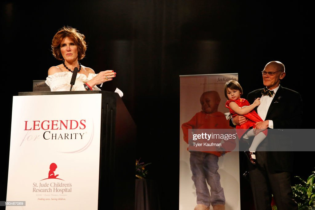 <a gi-track='captionPersonalityLinkClicked' href=/galleries/search?phrase=Mary+Matalin&family=editorial&specificpeople=803285 ng-click='$event.stopPropagation()'>Mary Matalin</a>, <a gi-track='captionPersonalityLinkClicked' href=/galleries/search?phrase=James+Carville&family=editorial&specificpeople=213580 ng-click='$event.stopPropagation()'>James Carville</a>, and Anna James Bourgeois attend the 2013 Legends For Charity Dinner Honoring Archie Manning at the Hyatt Regency New Orleans on January 31, 2013 in New Orleans, Louisiana.