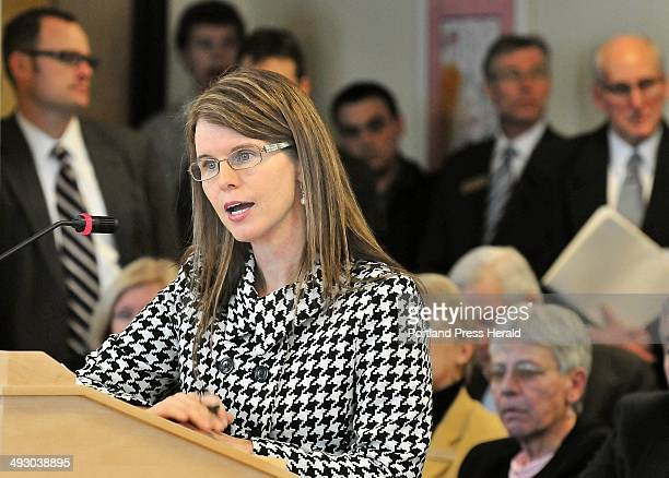 Mary Mayhew Gov Paul LePage's nominee for Dept of Health and Human Services commissioner speaks during her confirmation hearing before a...