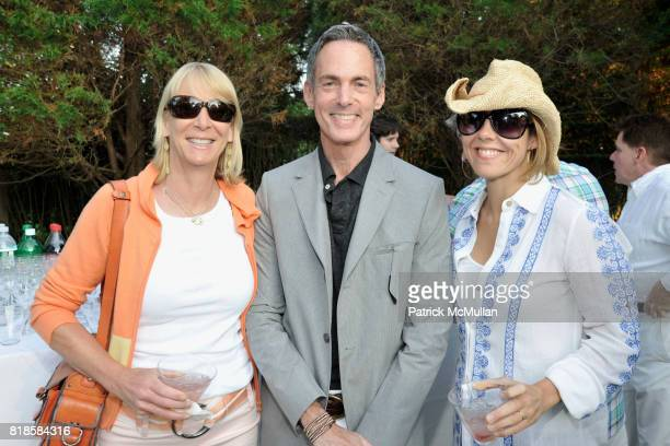 Mary McBride David Kleinberg and Leslie Klotz attend GODS LOVE WE DELIVERMid Summer Night Drinks Benefit at Home of Chad A Leat on June 19 2010 in...