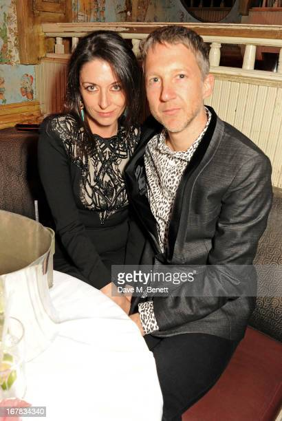 Mary McCartney and Jefferson Hack attend Fran Cutler's surprise birthday party supported by ABSOLUT Elyx at The Box Soho on April 30 2013 in London...