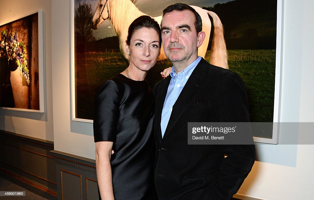 Mary McCartney (L) and Simon Aboud attend the book launch and private view of 'Mary McCartney: Monochrome And Colour' curated by De Pury De Pury on November 20, 2014 in London, England.