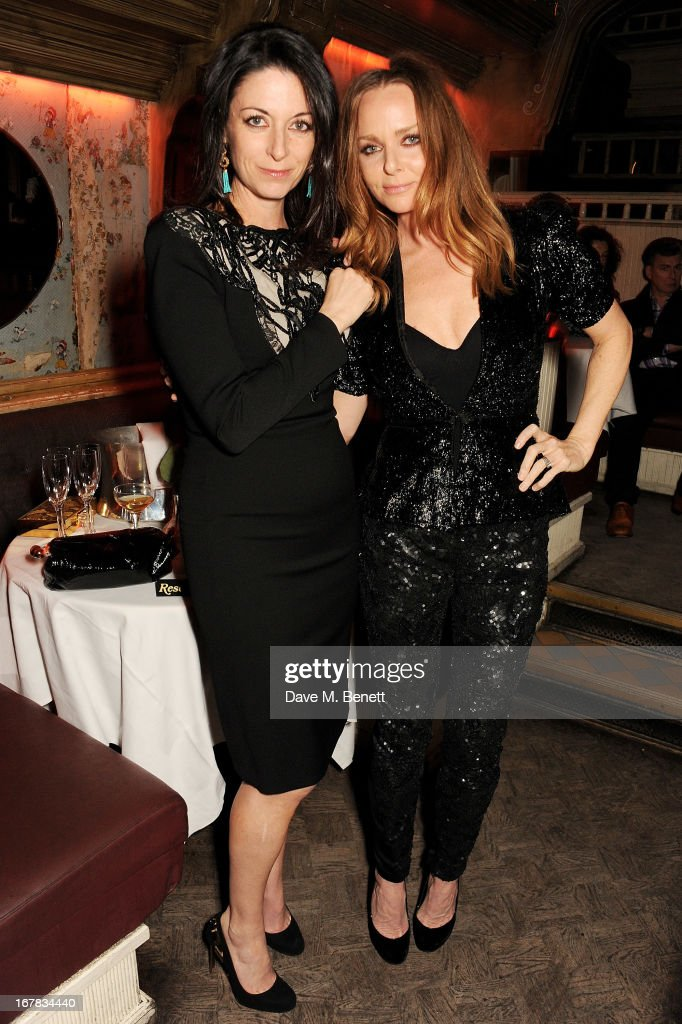 <a gi-track='captionPersonalityLinkClicked' href=/galleries/search?phrase=Mary+McCartney&family=editorial&specificpeople=208098 ng-click='$event.stopPropagation()'>Mary McCartney</a> (L) and Stella McCartney attend Fran Cutler's surprise birthday party supported by ABSOLUT Elyx at The Box Soho on April 30, 2013 in London, England.