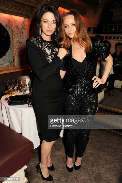 Mary McCartney and Stella McCartney attend Fran Cutler's surprise birthday party supported by ABSOLUT Elyx at The Box Soho on April 30 2013 in London...