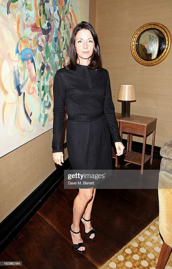 <a gi-track='captionPersonalityLinkClicked' href=/galleries/search?phrase=Mary+McCartney&family=editorial&specificpeople=208098 ng-click='$event.stopPropagation()'>Mary McCartney</a> attends a cocktail party hosted by new Editor-in-Chief of Harper's Bazaar UK Justine Picardie, Manolo Blahnik and Penelope Tree to celebrate the life of noted columnist and fashion editor Diana Vreeland, following the UK premiere of Diana Vreeland: The Eye Has To Travel, at The Connaught Hotel on September 19, 2012 in London, England.