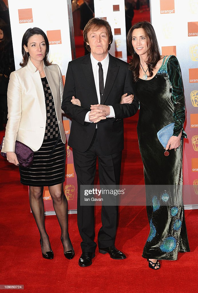 <a gi-track='captionPersonalityLinkClicked' href=/galleries/search?phrase=Mary+McCartney&family=editorial&specificpeople=208098 ng-click='$event.stopPropagation()'>Mary McCartney</a>, Sir <a gi-track='captionPersonalityLinkClicked' href=/galleries/search?phrase=Paul+McCartney&family=editorial&specificpeople=92298 ng-click='$event.stopPropagation()'>Paul McCartney</a> and <a gi-track='captionPersonalityLinkClicked' href=/galleries/search?phrase=Nancy+Shevell&family=editorial&specificpeople=5085391 ng-click='$event.stopPropagation()'>Nancy Shevell</a> attend the 2011 Orange British Academy Film Awards at The Royal Opera House on February 13, 2011 in London, England.
