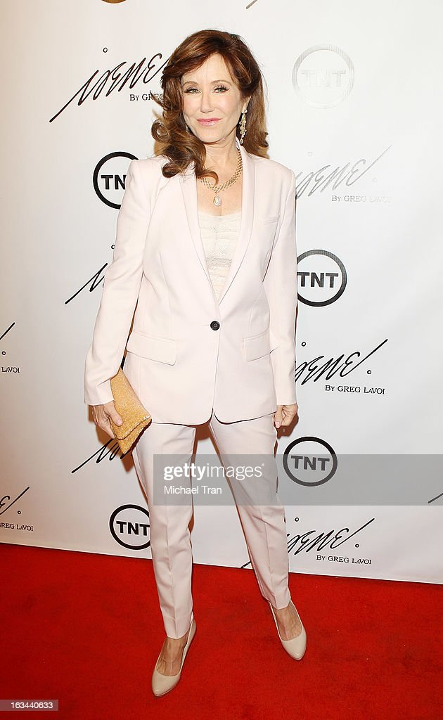 Mary McDonnell arrives at the 2013 Los Angeles Fashion Week - The House Of Irene Autumn/Winter 2013 fashion show held at Raleigh Studios on March 9, 2013 in Los Angeles, California.
