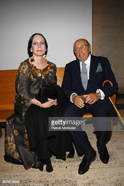 Mary McFadden and Ahmet Ertegun attend VANITY FAIR Tribeca Film Festival Party hosted by Graydon Carter and Robert DeNiro at The State Supreme...