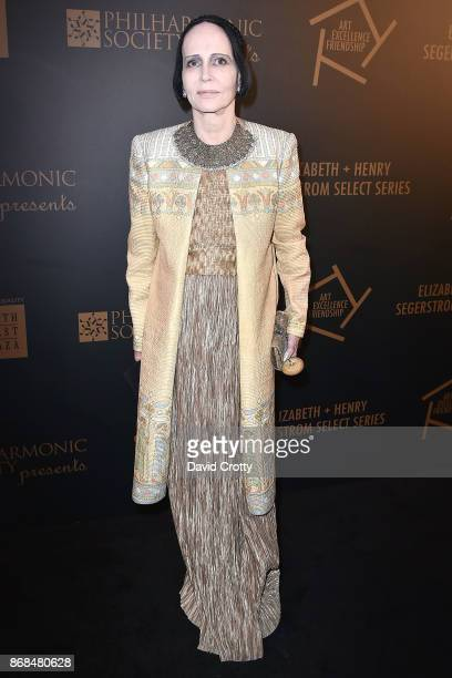 Mary McFadden attends the Mariinsky Orchestra Concert in honor of Henry Segerstrom and the 50th anniversary of South Coast Plaza on October 30 2017...