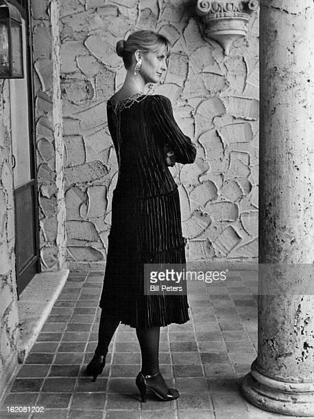 JUN 17 1981 JUL 22 1981 JUL 26 1981 Mary McFadden's exclusive mari pleating falls in sheath from gold macrame neckline