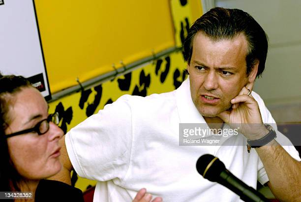 Mary McGuckian and Rupert Graves during Filmfestival Locarno 2005 'Rag Tale' Press Conference at Press Centre in Locarno Switzerland