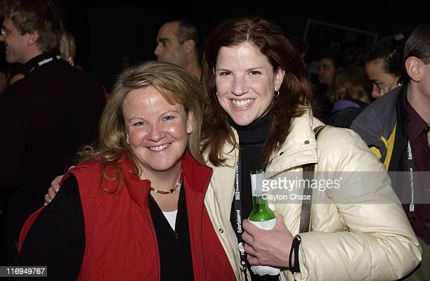 Mary McLaughlin of VW and Elizabeth Daly during 2005 Sundance Film Festival Alfred P Sloan Foundation Reception at Kimball Arts Center in Park City...