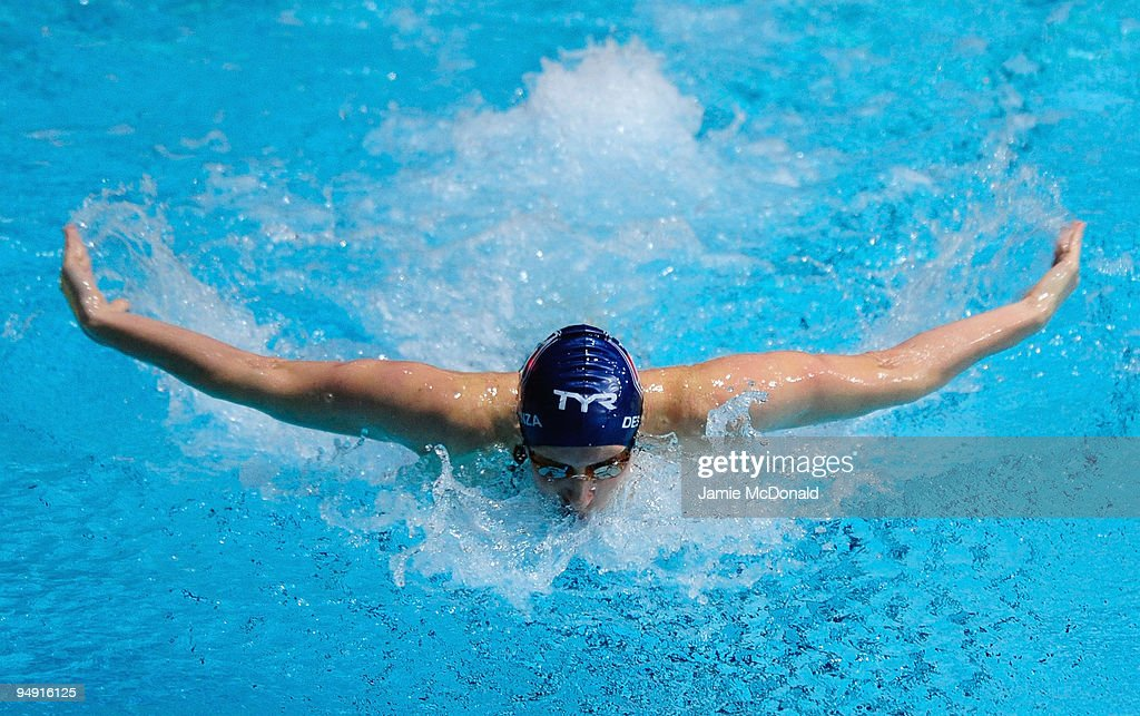 Mary Mohler of USA competes in the Women's 200m Butterfly during day two of the Duel in the Pool between the United States and the E-Stars, a European team, at The Manchester Aquatics Centre on December 19, 2009 in Manchester, England.