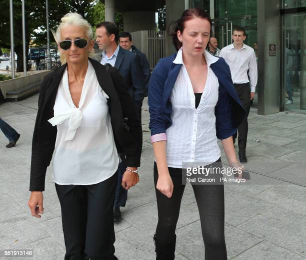 Mary Murray the widow of firefighter Brian Murray leaves Dublin's Circuit Criminal Court as Wicklow County Council has pleaded with Judge Desmond...