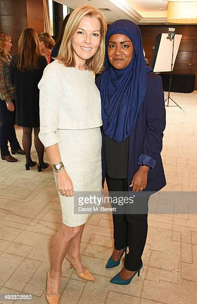 Mary Nightingale and Great British Bake Off winner Nadiya Hussain attend the Women of the Year lunch and awards at the InterContinental Park Lane...