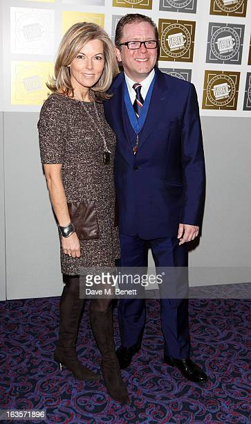 Mary Nightingale and Jon Culshaw arrive at the TRIC Television and Radio Industries Club Awards at The Grosvenor House Hotel on March 12 2013 in...
