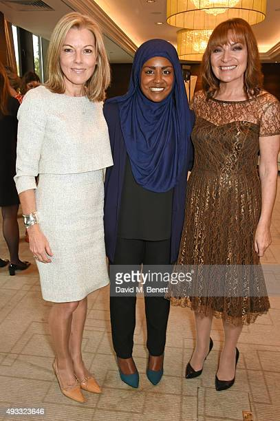 Mary Nightingale Great British Bake Off winner Nadiya Hussain and Lorraine Kelly attend the Women of the Year lunch and awards at the...