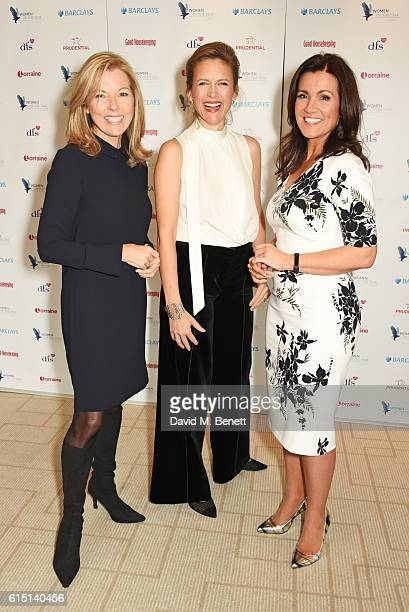 Mary Nightingale Katie Derham and Susanna Reid attend The 61st Women of the Year lunch and awards 2016 at InterContinental Park Lane Hotel on October...