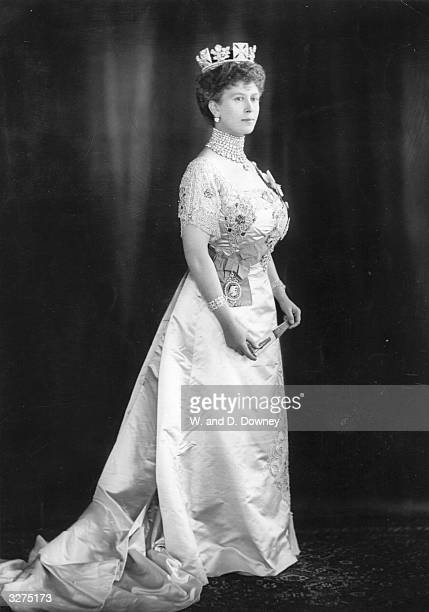 Mary of Teck formerly Princess Victoria Mary Augusta Louise Olga Pauline Claudine Agnes of Teck who was born in Kensington Palace and married Prince...