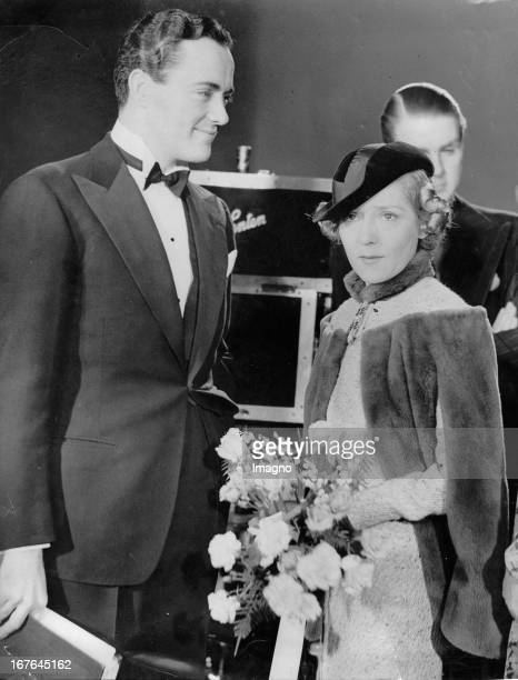 Mary Pickford Canadian actress And her husband Charles Rogers USamerican actor In the Elstree studios March 12th 1937 Photograph Mary Pickford...