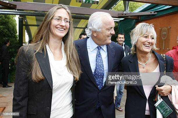 Mary Pierce and her mother Christian Bimes in Paris France on May 30 2007