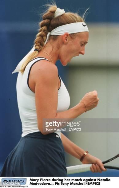 Mary Pierce during her match against Natalia Medvedeva