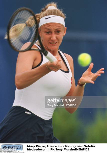 Mary Pierce France in action against Natalia Medvedeva