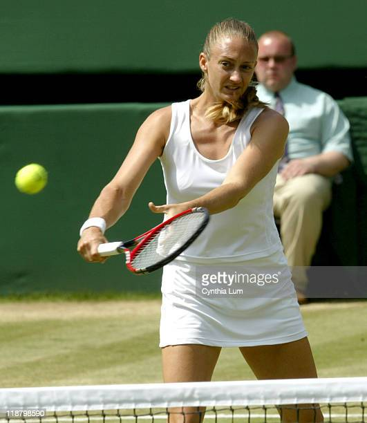 Mary Pierce Mary Pierce defeated by Venus Williams 60 76 in the quarter finals at the 2005 Wimbledon Championships on June 28 2005