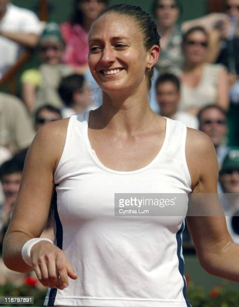 Mary Pierce Mary Pierce wins a place in the French Open final defeating Elena Likhovtseva 61 61 at Roland Garros on June 2 2005