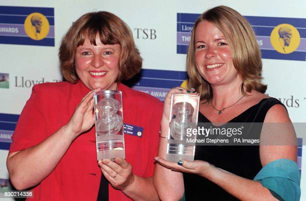 Mary Pittman from Downham School Plymouth who was awarded the Teacher of the Year in a Special School and Florrie Witcombe from Inverteign Junion...