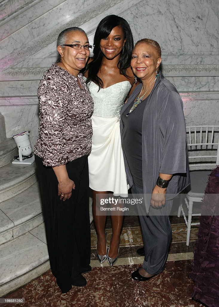 Mary Pitts, <a gi-track='captionPersonalityLinkClicked' href=/galleries/search?phrase=Gabrielle+Union&family=editorial&specificpeople=202066 ng-click='$event.stopPropagation()'>Gabrielle Union</a> and Theresa Union attend BET Honors 2013: Debra Lee Pre-Dinner at The Library of Congress on January 11, 2013 in Washington, DC.