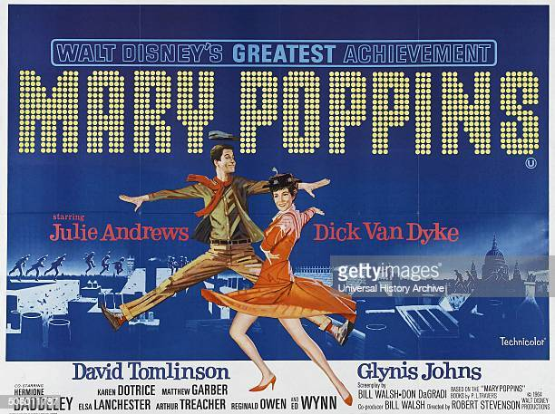 'Mary Poppins' a 1964 American musical fantasy film starring Julie Andrews and Dick Van Dyke