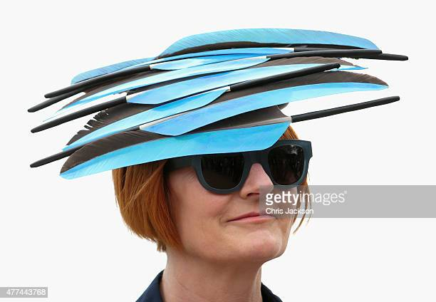 Mary Portas arrives for day 2 of Royal Ascot at Ascot Racecourse on June 17 2015 in Ascot England