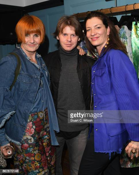 Mary Portas Christopher Kane and Melanie Rickey at the launch of Liberty London's emerging fashion talent initiative #SarahsList with renowned...