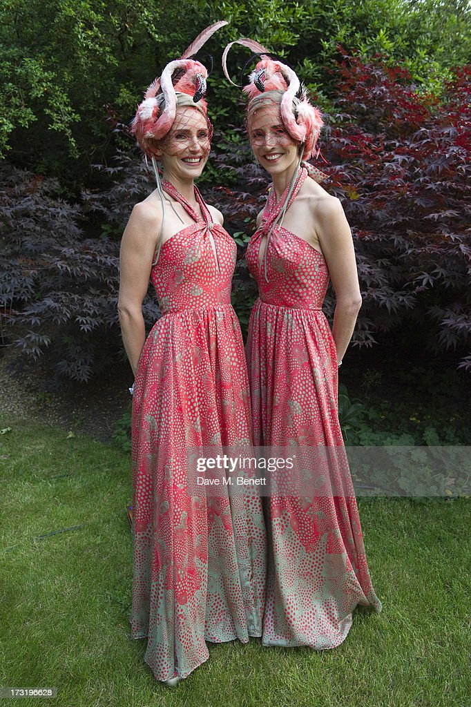 Mary Powys and Ruth Powys attend The Elephant Family presents 'The Animal Ball' at Lancaster House on July 9, 2013 in London, England.