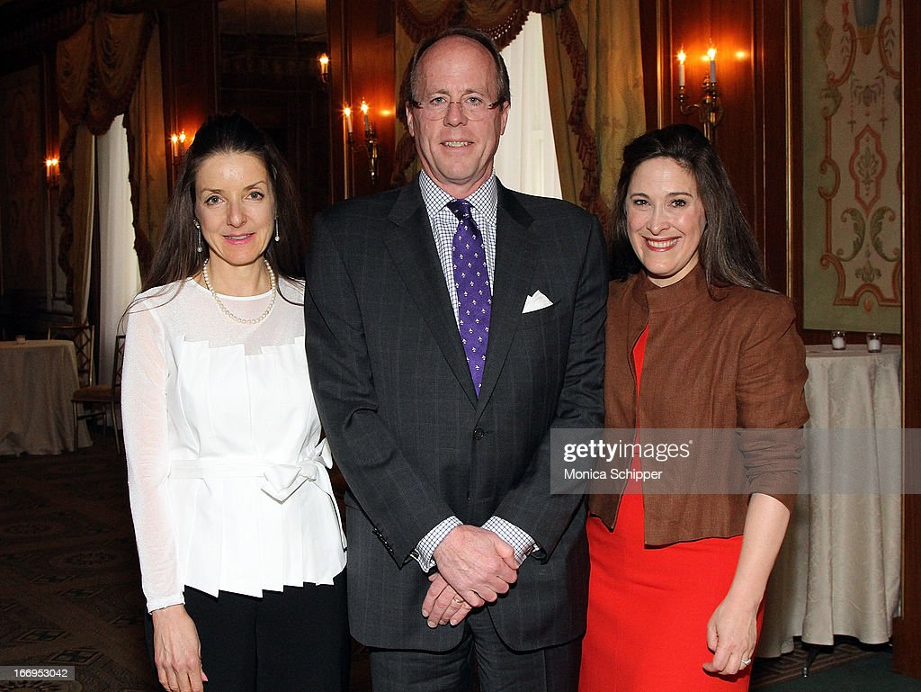 Mary Pulido, David Stack and Elizabeth Mayhew attend The New York Society For The Prevention Of Cruelty To Children's 2013 Spring Luncheon at The Pierre Hotel on April 18, 2013 in New York City.