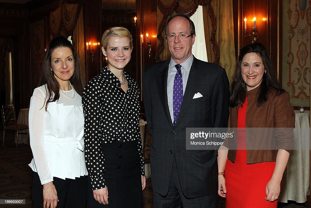 Mary Pulido, Elizabeth Smart, David Stack and Elizabeth Mayhew attend The New York Society For The Prevention Of Cruelty To Children's 2013 Spring Luncheon at The Pierre Hotel on April 18, 2013 in New York City.