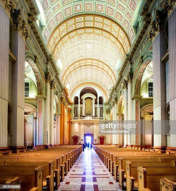 Mary Queen of the World Montreal Cathedral interior apse nave